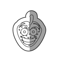 figure kawaii fruits strawberry happy icon vector image vector image
