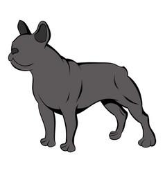 french bulldog icon cartoon vector image