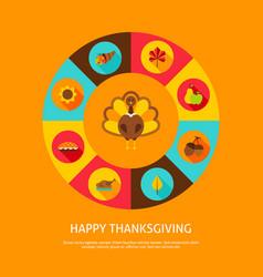 happy thanksgiving concept vector image vector image