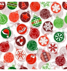 Seamless Christmas pattern with simple contour vector image vector image