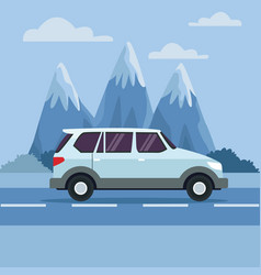 vehicle in highway vector image