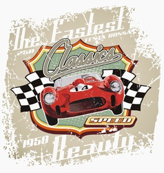 vintage fastest car vector image