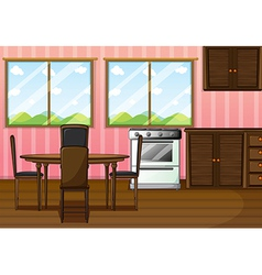 A clean dining room vector image