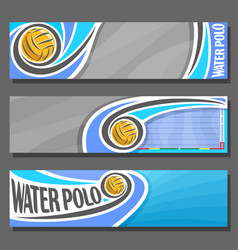 horizontal banners for water polo vector image