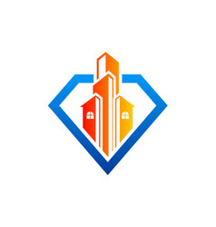 Modern building architecture business logo vector