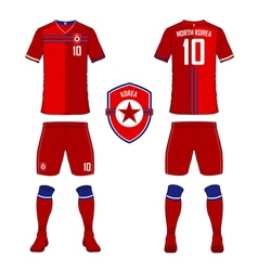 North Korea soccer kit football jersey template vector image