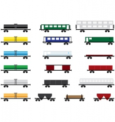 railway cars vector image