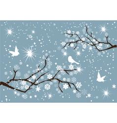 Snow branches vector