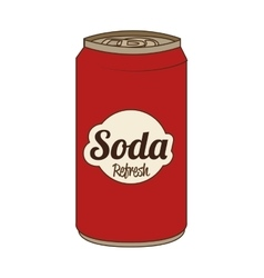 Soda can isolated flat icon vector image vector image