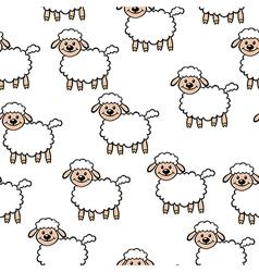 white lamb pattern vector image
