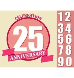 Anniversary Design set Template celebration sign vector image vector image