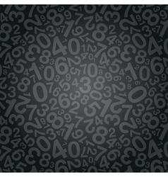 black number background vector image