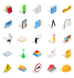 quiz icons set isometric style vector image vector image