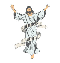 ascension of jesus christ sketch vector image