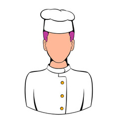 chef icon cartoon vector image