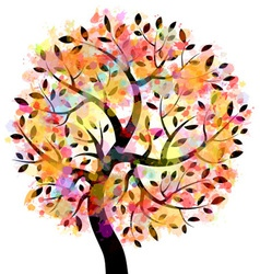 Colorful Tree vector image