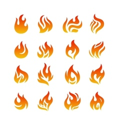 Fire flames vector image