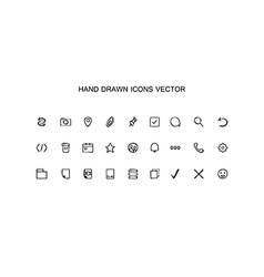 Hand drawn outline web icons set Office vector image vector image