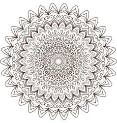 Mandala Vintage decorative elements Hand drawn vector image