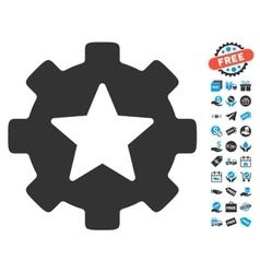 Star Favorites Options Gear Icon With Free Bonus vector image
