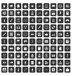 100 information icons set black vector