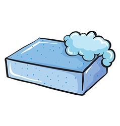 A blue soap vector image vector image