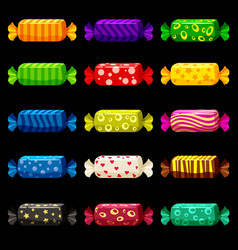 a set of colored sweets in a bright festive vector image