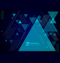 abstract technology concept geometric triangles vector image