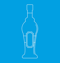 alcohol bottle icon outline style vector image