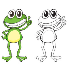 animal outline for frog standing vector image