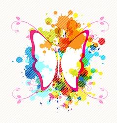 Art butterfly design vector