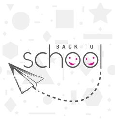 Back to school greeting vector