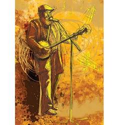 Banjo player vector image