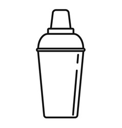 bar shaker icon outline style vector image