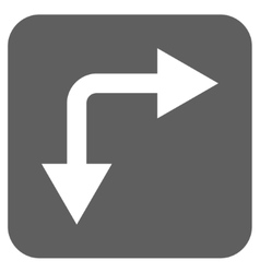 Bifurcation Arrow Right Down Flat Squared vector