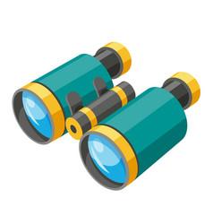 Binoculars isometric icon field or opera glasses vector