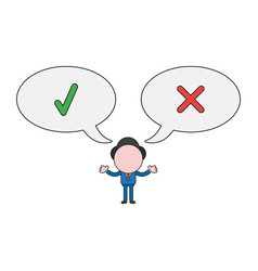 Businessman character with speech bubbles and vector