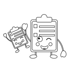 clipboard kawaii icon image vector image