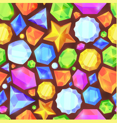 crystals color seamless pattern shiny jewelry of vector image