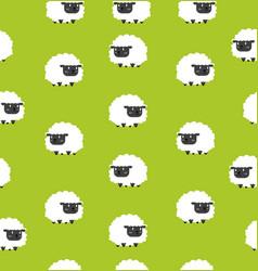 Cute black little sheeps pattern seamless vector
