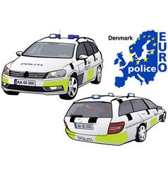 denmark police car vector image