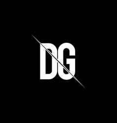 dg logo monogram with slash style design template vector image