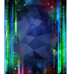 Digital space background with stars and numbers vector