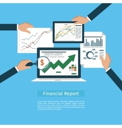 Financial flat concept vector image