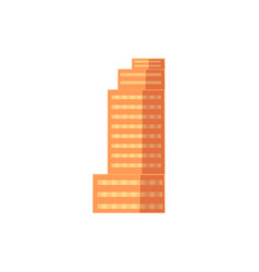 flat cartoon building apartment house vector image