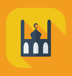 Flat modern design with shadow icons mosque vector
