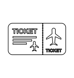 Flight Ticket Isolated Icon Design Royalty Free Vector Image