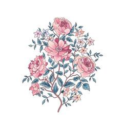 Floral background flower bouquet flourish spring vector