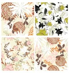 floral backgrounds set vector image vector image
