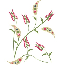 floral tulips background vector image